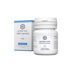 boite 20 capsules 4% cbd alphacat 400mg green owl