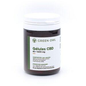 capsules cbd guarana x40 1600mg green owl