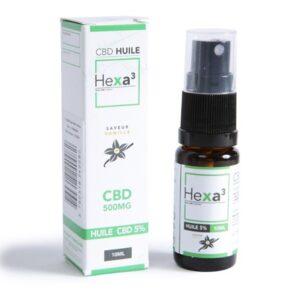 huile mct cbd 5% hexacube (vanille) green owl