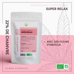 infusion cbd essentiel super relax bio 25g