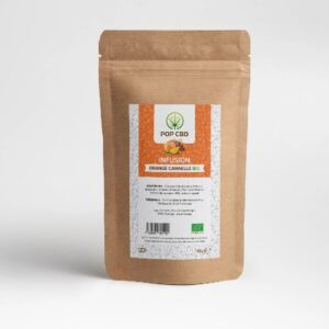 infusion cbd fruitée orange cannelle bio 35g green owl