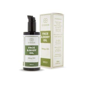 huile de cbd pour le visage et le corps 30mg cbd:ml endoca